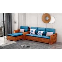 世华现代轻奢红檀木家具:9010#转角沙发