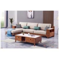 世华现代轻奢红檀木家具:9013#转角沙发、9013#长茶几