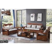 骏泰正悦中式实木客厅家具,江西南康紫檀色、胡桃色、梨木色实木沙发厂家,骏泰家具