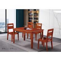 百福源康红胡桃系列家具:3505#方桌、3501#餐椅