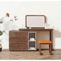 朗朝现代极简白蜡木家具:L2691#梳妆台(胡桃色)、妆凳