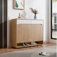 朗朝现代极简白蜡木家具:L2852#鞋柜(原木色)