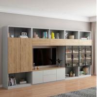 朗朝现代极简白蜡木家具:L2823#组合电视柜(地柜)(原木色)、L2861组合左柜、L2862组合右柜、L2863组合吊柜