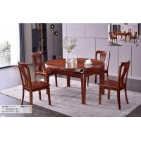 长城乌金木W-1001#餐台、W002#餐椅
