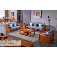 长城乌金木F8802#1+2+3沙发