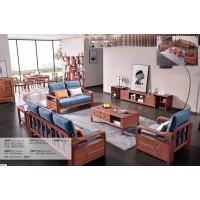 长城紫金檀木A916#1+2+3沙发