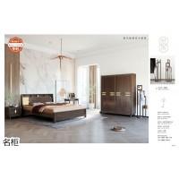 南康现代极简实木家具,暖咖色、原木色实木家具,江西北欧实木套房厂家,名柜家具