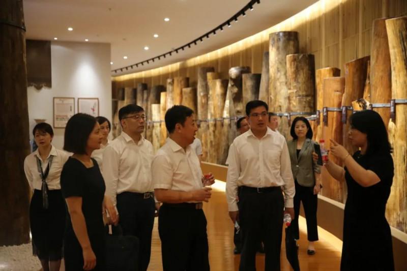 中国银行江西省分行副行长马健雄一行考察南康家具