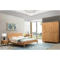 康名箭·简素空间北欧极简白蜡木家具,江西南康木蜡油原木色北美白蜡木套房厂家
